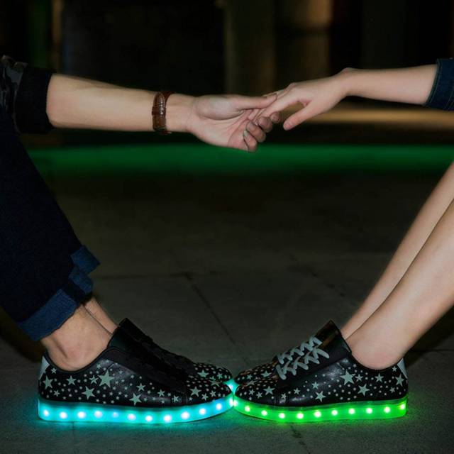 Fresh 10 LED Shoes That Light Up At The Bottom And Change Colors Like  HA09