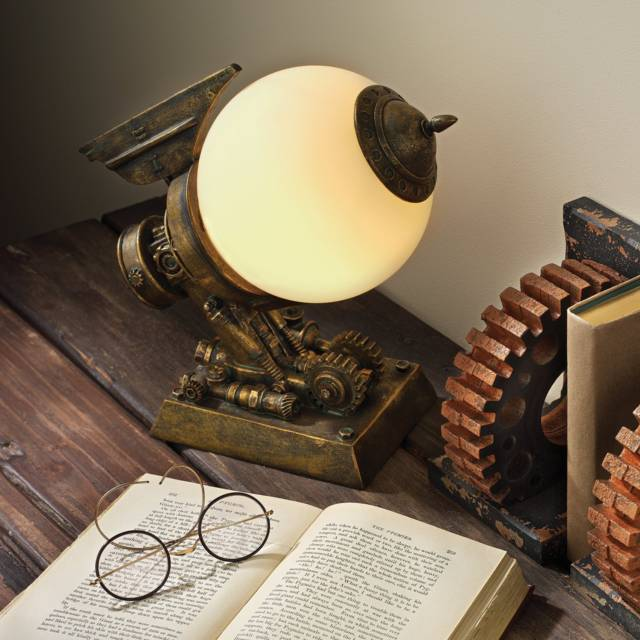 Steampunk Airship Sculpture Lamp // 10 Creative STEAMPUNK Decor Accessories & Ideas That Will Change Your Timeline Forever