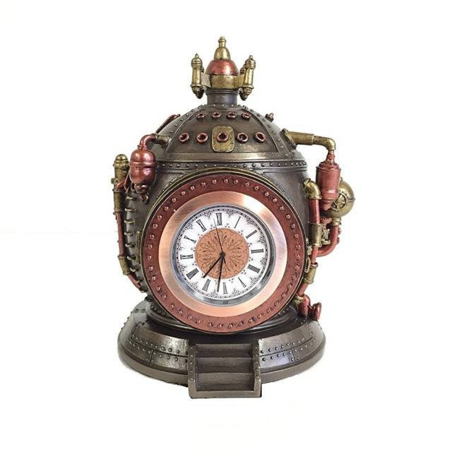 Steampunk Time Machine Clock & Trinket Box Statue // 10 Creative STEAMPUNK Decor Accessories & Ideas That Will Change Your Timeline Forever