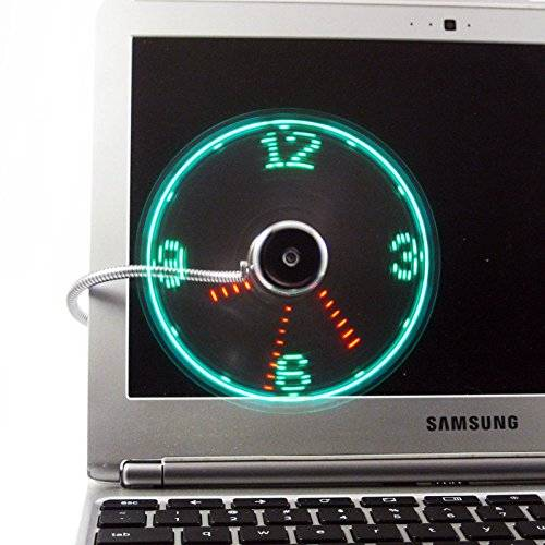 Cool USB Fan With LED Clock Light Gadget // 10 REALLY Cool USB Gadgets That Will Redefine Your USB Slot Forever