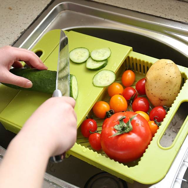 Multifunctional Over The Sink Cutting Board U0026 Colander // 10 BEST Cutting  Board Designs To