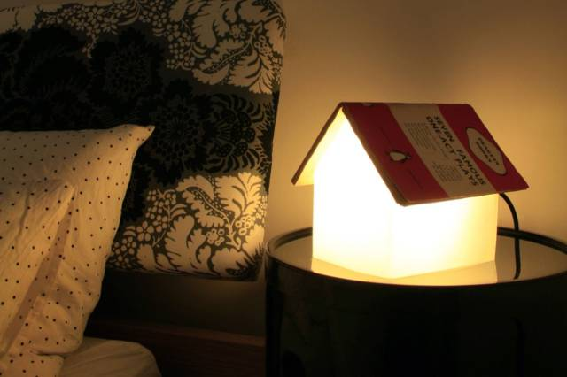 Nighttime Reading Cute House Book Rest Lamp // 10 BOOK Furniture Design Pieces Every Bookworm Should Have